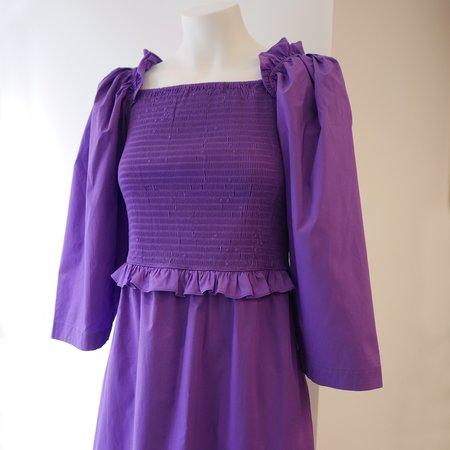Sea NY Tabitha Smocked Dress - Grape