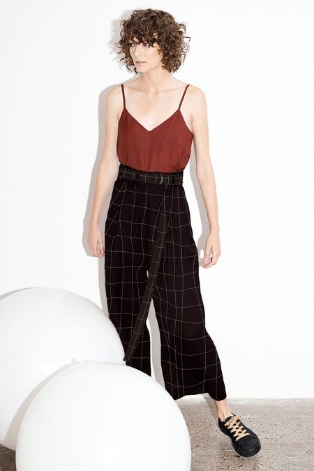 Milk & Thistle Luna Pants - Llano Plaid