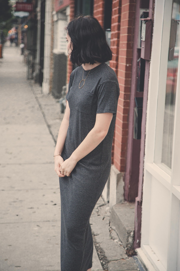 Mary Meyer Pocket Maxi in Grey Stripe