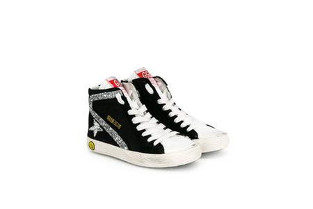 Kids Golden Goose Slide Sneakers - Black/White