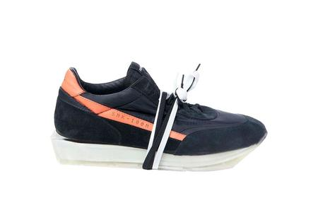 RBRSL Scarpa Palo Manmade Sole Sneaker - Black/Orange