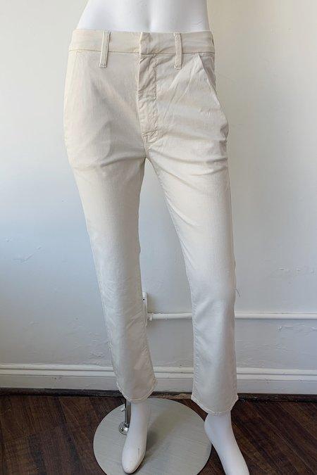 Mother Denim Straight Shaker Ankle Prep Pants - Vanilla