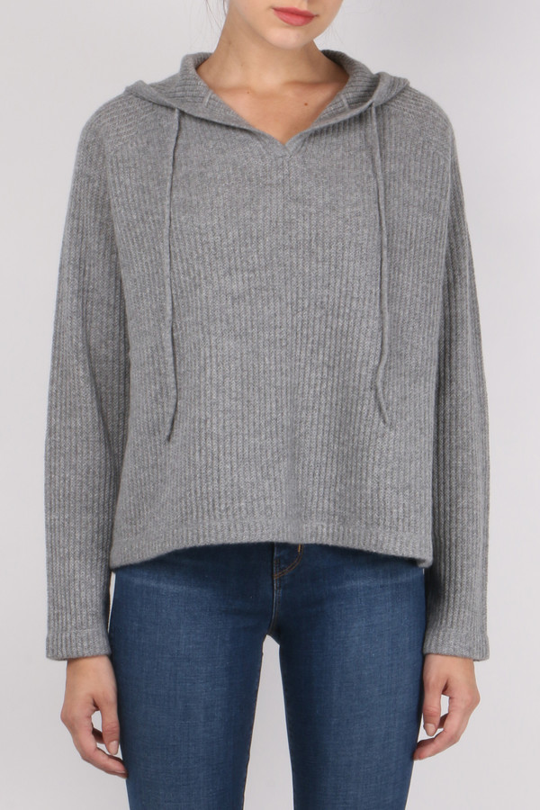 Allude Ribbed Hoodie