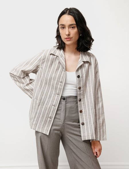 Our Legacy Square Cotton Wool Jacket - Light Check