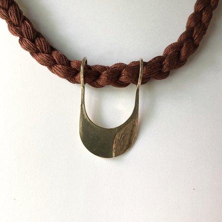 Rebekah J Designs Canal Necklace - Brass/Cocoa
