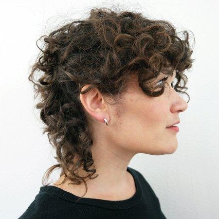 Rebekah J Designs Half Moon Post #1 Earrings - Sterling Silver