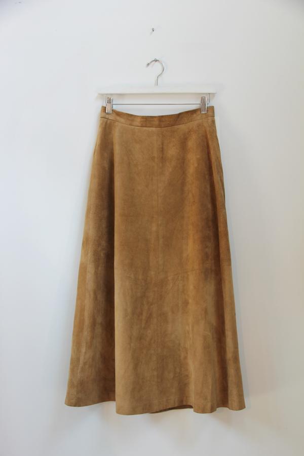 Hey Jude Suede A-Line Skirt