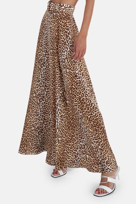 Zimmermann Brightside Midi Skirt - Leopard