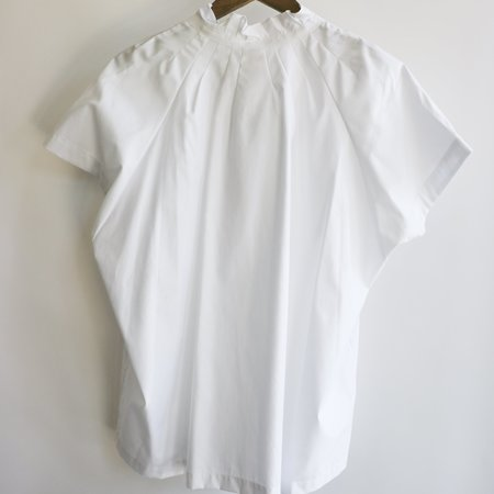 Zero + Maria Cornejo Pintuck Gaban Shirt - White