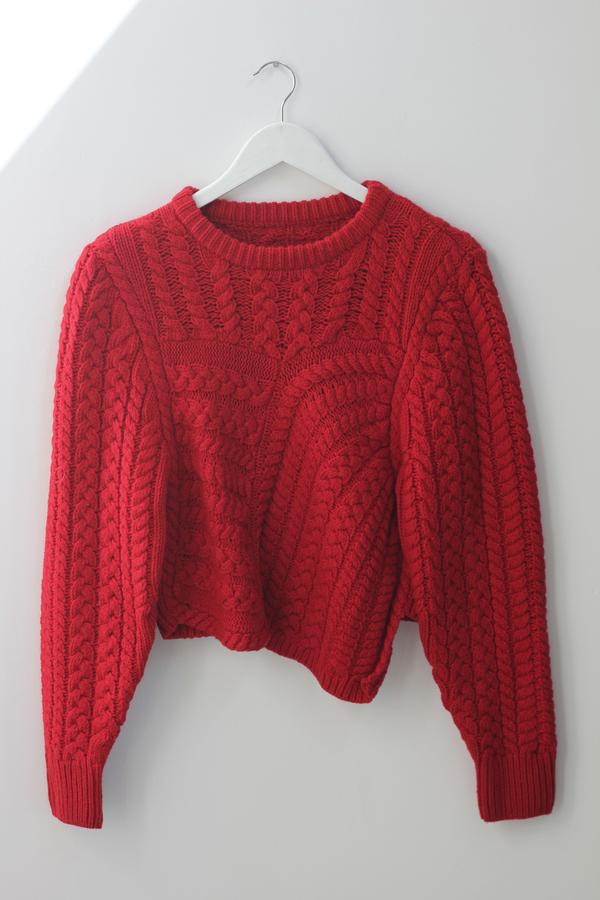 Hey Jude Asymmetrical Knit Pullover