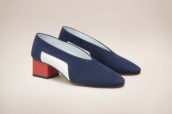 GRAY MATTERS Mildred Patent Blue Pump