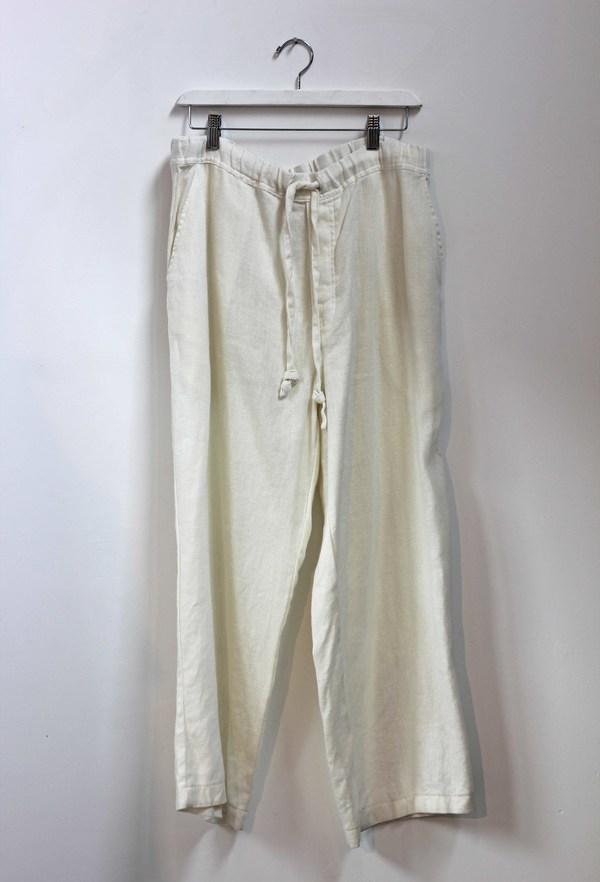 Hey Jude Vintage Ivory Linen Trouser