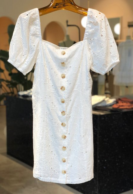 Nicole Kwon Concept Store Lace Dress - White