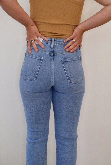 Just Black Classic Straight High Rise Jeans - Light Denim