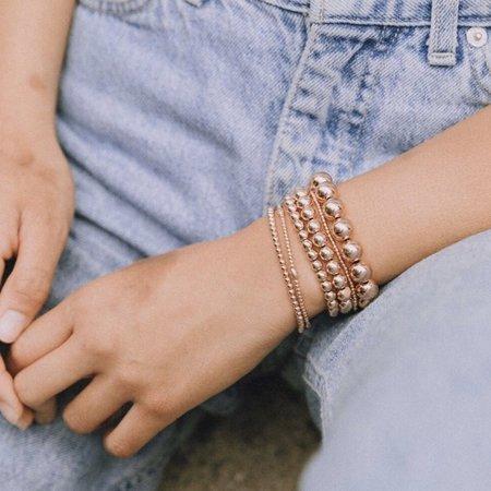 Karen Lazar 5mm Filled Bracelet - Yellow Gold