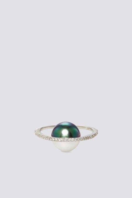 Nataf Saturn Ring - White Gold