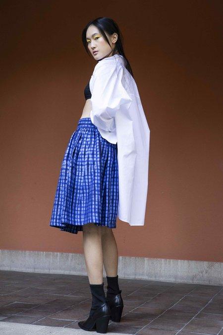 HANNIMANNS Larry Jay Circle Skirt - Royal Bue
