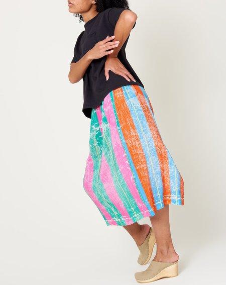 Anntian Skirt - Fake Jean Stripe
