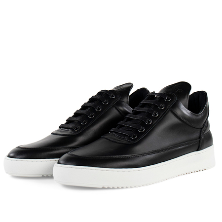 Filling Pieces low top ripple lane sneakers - nappa Black
