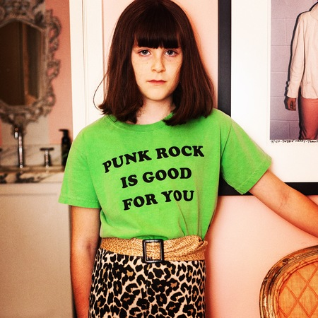 Kids Anchors-n-Asteroids Punk Rock is Good For You Tshirt - Apple Green