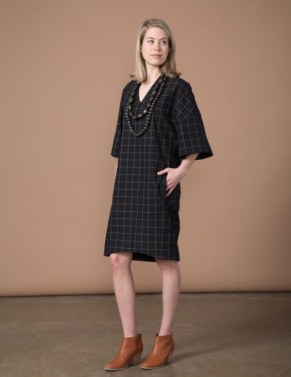 SBJ Austin Sadie Dress - Black Window Pane