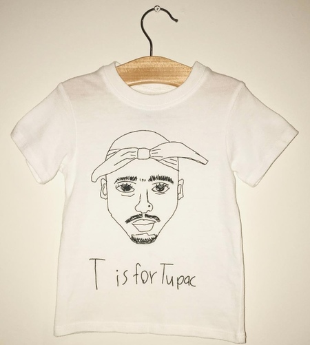 Kids Anchors-n-Asteroids T is for Tupac - White
