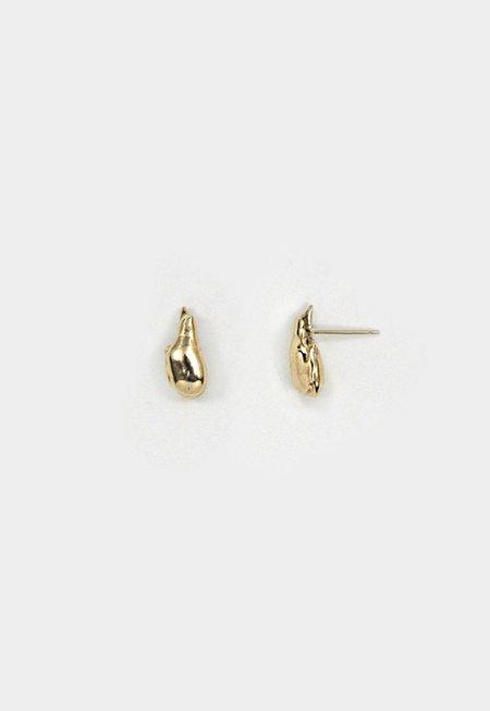 Merewif Droplette Earrings - Brass