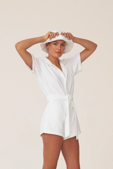 Terry. Il Pareo Jumpsuit - Bianco