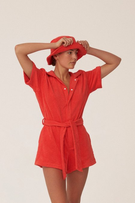 Terry. Il Pareo Jumpsuit - Rosso
