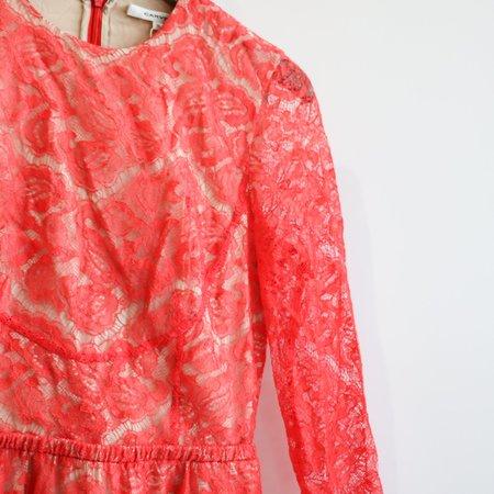 [Pre-loved] Carven Lace Mini Dress - Coral