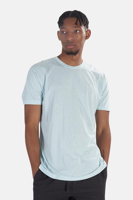 Blue&Cream x Kinetix Basic Burnout T-Shirt - Light Blue