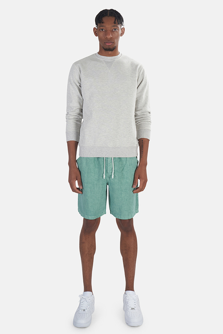 President's Stone Wash Crew Sweater - White