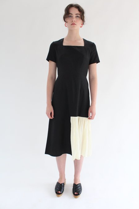 Correll Correll Gauze Rocco Di Dress - Black/Ivory