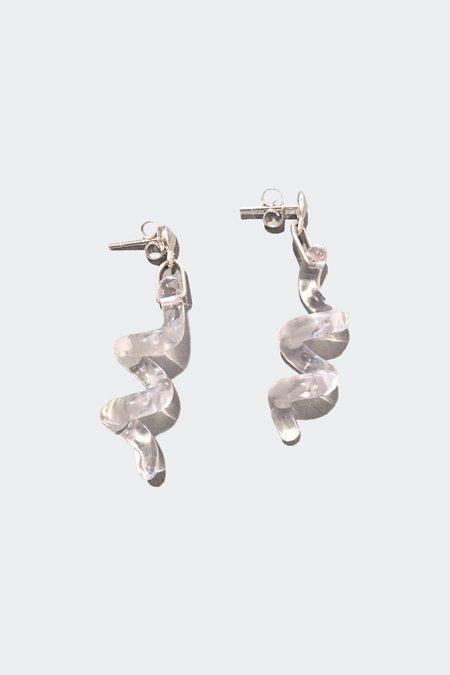 open house projects Quartz Spiral Earrings