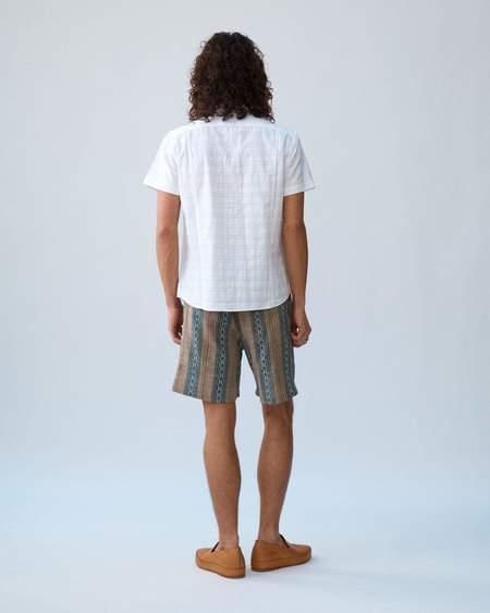 Corridor Dobby Handblock Draw String Shorts - Tan