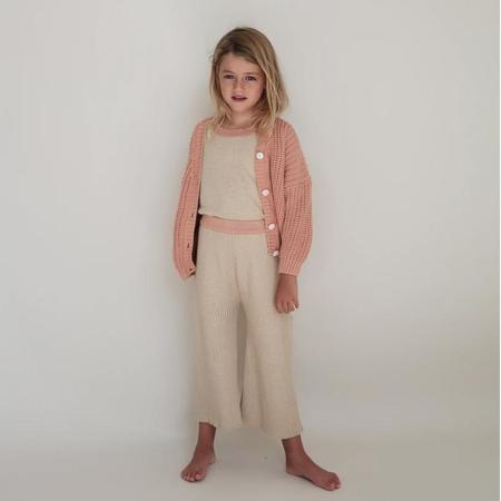Kids Summer & Storm Chunky Cardigan - Coral