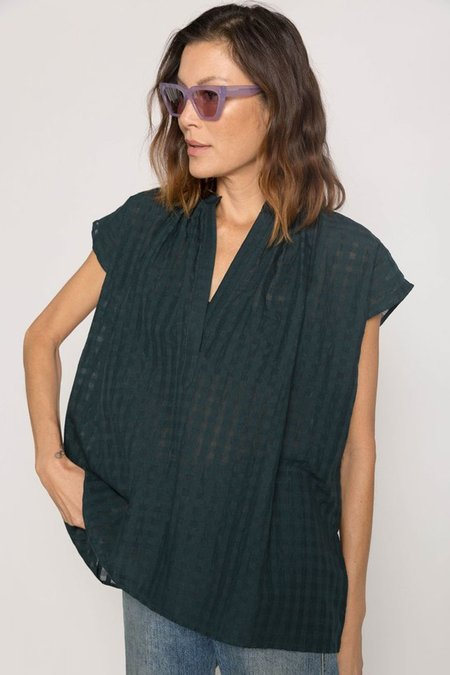 Two New York Grid Shirt - Hunter Green