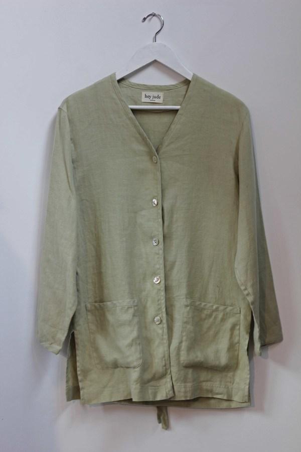 Hey Jude Vintage Sage Linen Jacket
