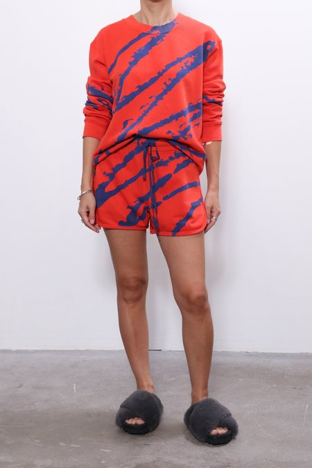 Raquel Allegra Running Shorts - Painted Red/Blue