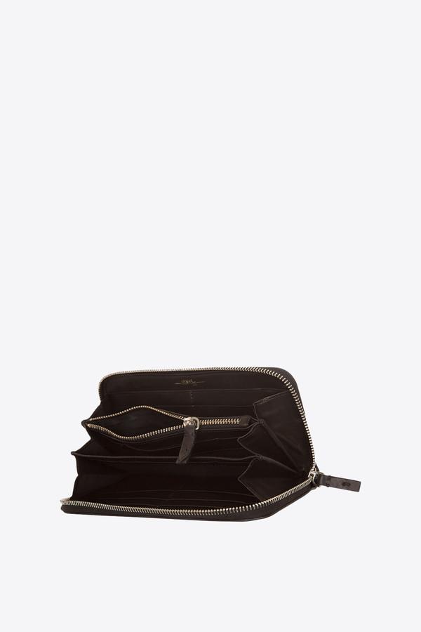 Jerome Dreyfuss Malcolm zip wallet black/silver