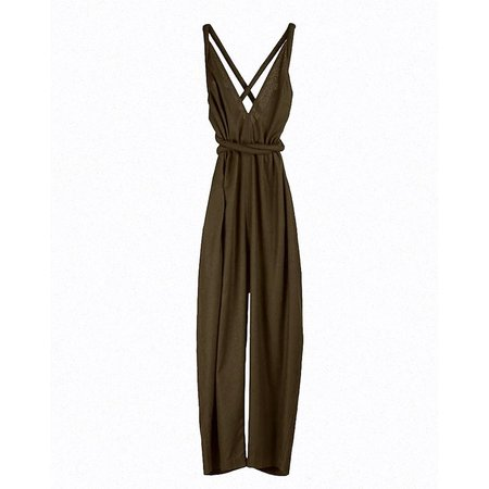 Electric Feathers Raw Silk Infinite Rope Jumpsuit - Black