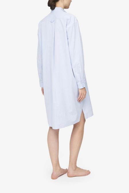 The Sleep Shirt Long Sleep Shirt - Blue Seersucker