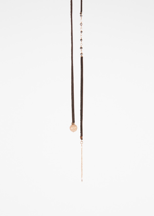 Jewels by Piper Rose Gold Lariat Necklace