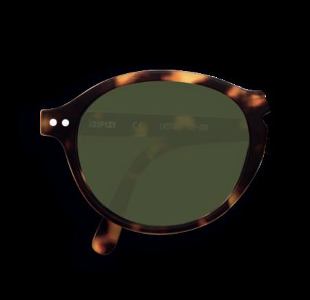Izipizi Sunglasses with Green Lenses - Tortoise