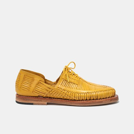 TheCanoShoe Benito Lace Up Shoes - Mustard