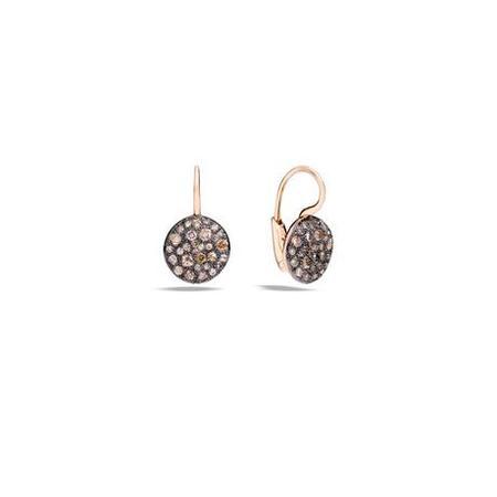 Pomellato Sabbia Brown Diamond Earrings - Rose Gold