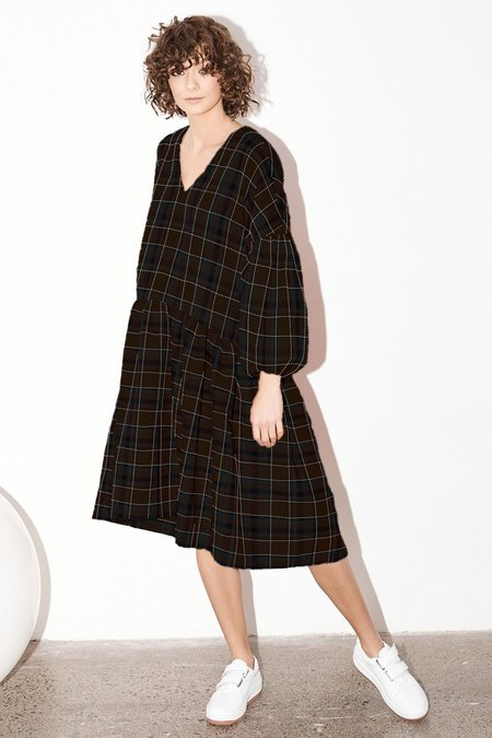 Milk & Thistle Florence Dress - Llano plaid (AVAILABLE NOW)
