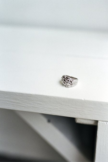 The Silver Stone Cluster Ring