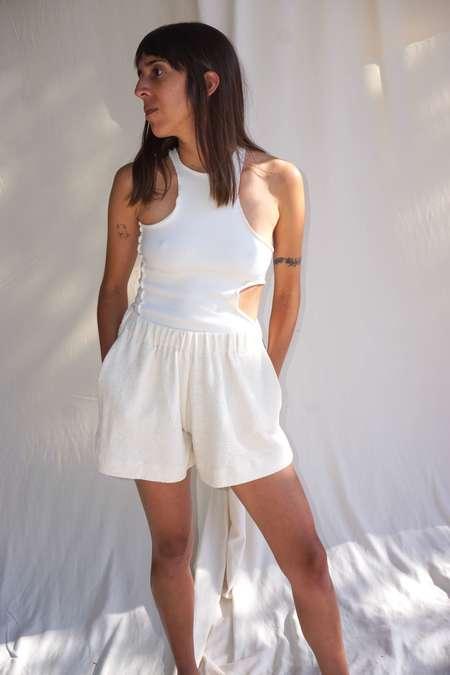Textilehaus French Terry Shorts - White