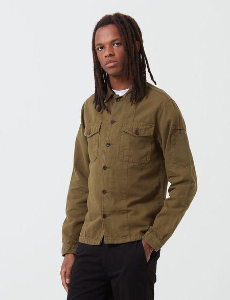 Portuguese Flannel Champ Jacket - Olive